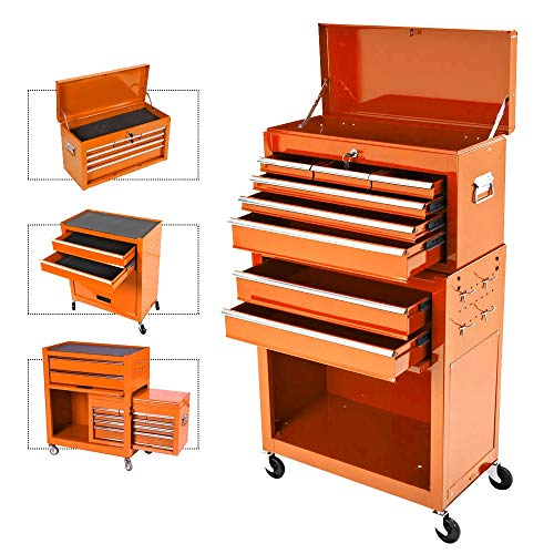 Removable Portable Top Box with Lock Tool Chest
