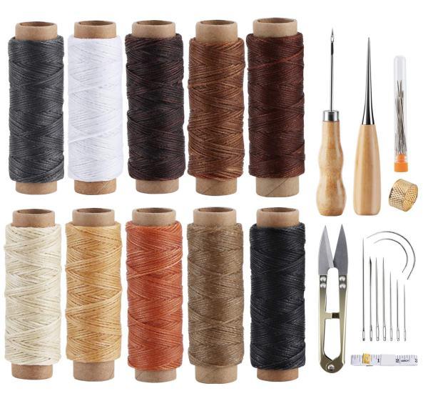 ilauke Leather Sewing Kit - 31 Pcs Leather Working Tools