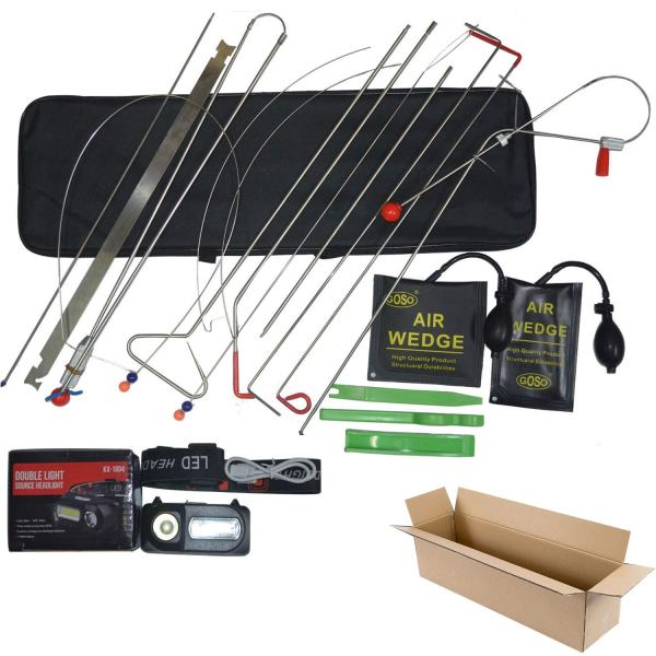 Emergency Car Repair Tool Kit | 18 Piece Vehicle Door Unlocking Kit
