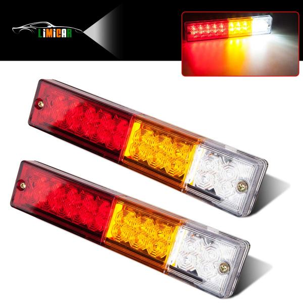 20 LED Trailer Tail Lights Bar Waterproof amper Red Amber White