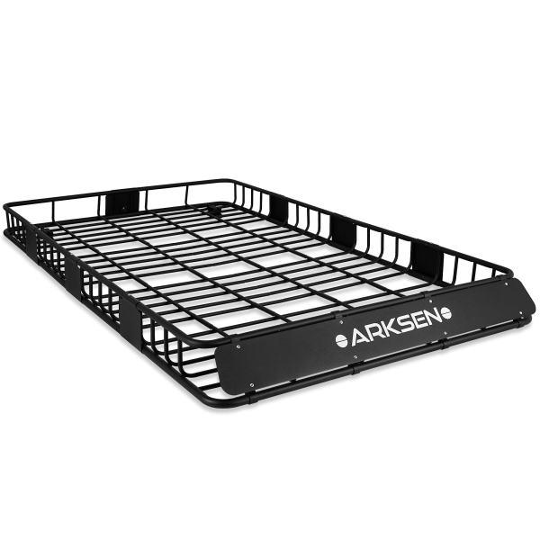 """ARKSEN 84"""" x 50"""" x 6"""" Perfect-Wide Roof Rack Cargo Basket"""