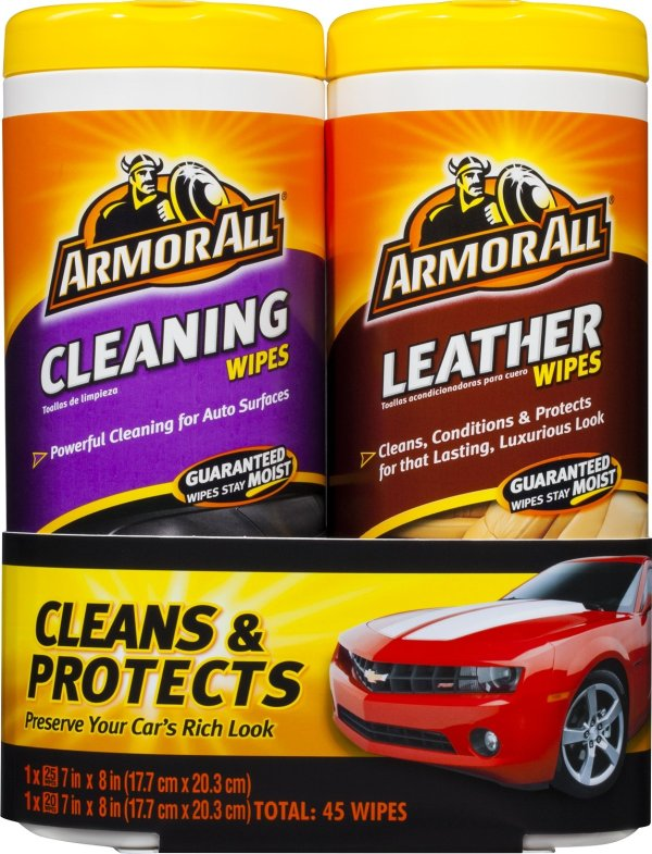 All Cleaning & Leather Wipes Two Pack
