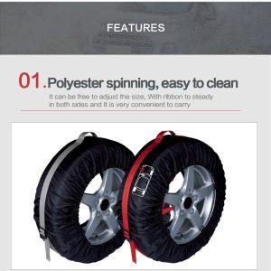 Tyre Cover Garage Tire Case 4Pcs