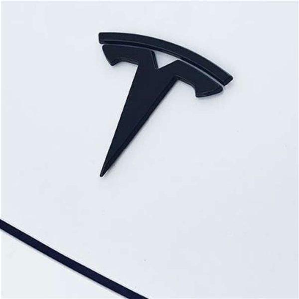Model 3 Y S X Matte Black Logos Steering Wheel Patch