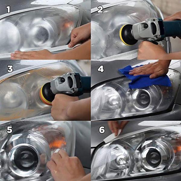 Restoration Kit Polish Headlamp Brightener