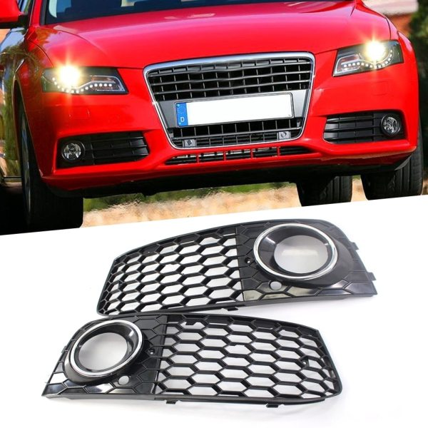 Audi A4 B8 Front Grill Mesh Fog Light Honeycomb