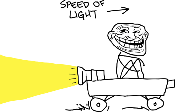 troll science speed of light