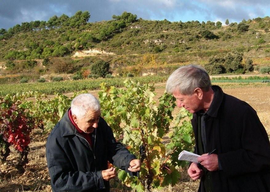 "At Bodegas Remelluri, Manuel Ruiz Hernandez, ""the Peynaud of Rioja"", shows Frank Ward a tiny Tempranillo grape containing one single pip. ""We're going for ever-smaller grapes with the aim of better skin-to-juice ratio""."