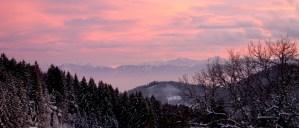 Sonnenuntergang über dem Kärntner Becken