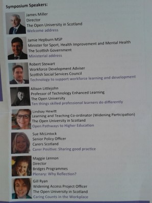 Symposium speakers