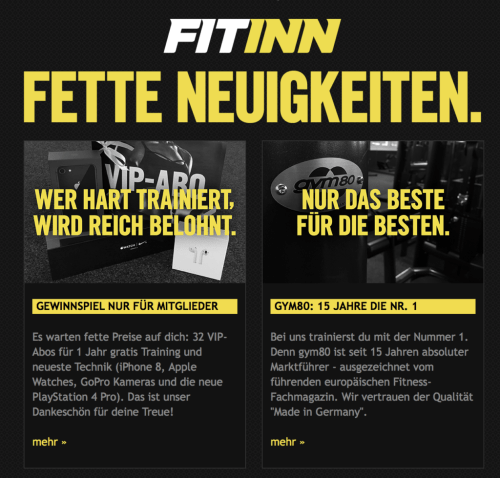 FITINN Newsletter vom 20. November 2017