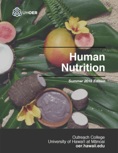 Human Nutrition textbook cover