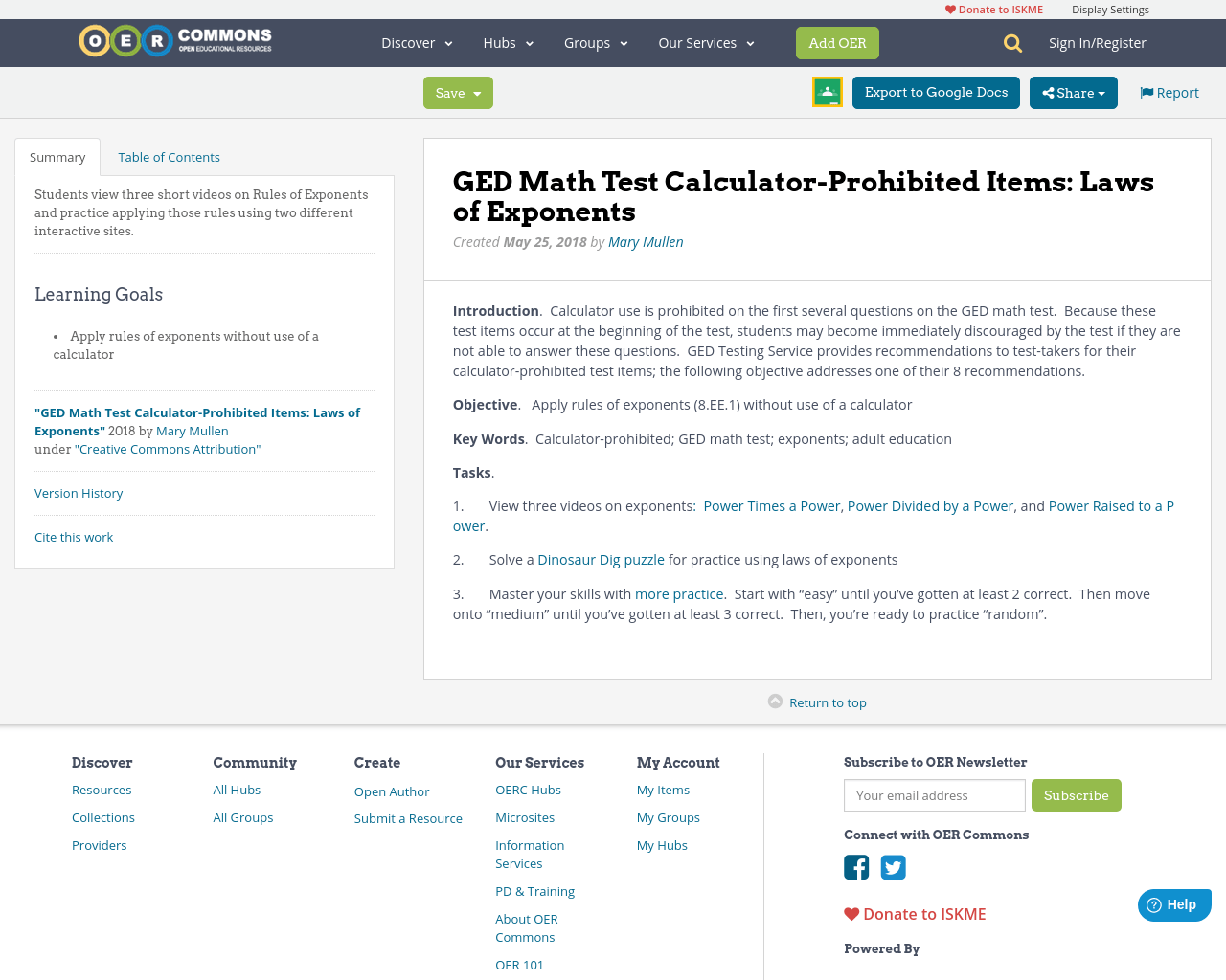 Ged Math Test Calculator Prohibited Items Laws Of Exponents