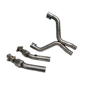 2007-10 Mustang GT500 2-3/4″ X-pipe with converters (for stock manifolds/shorty headers)- aluminized steel