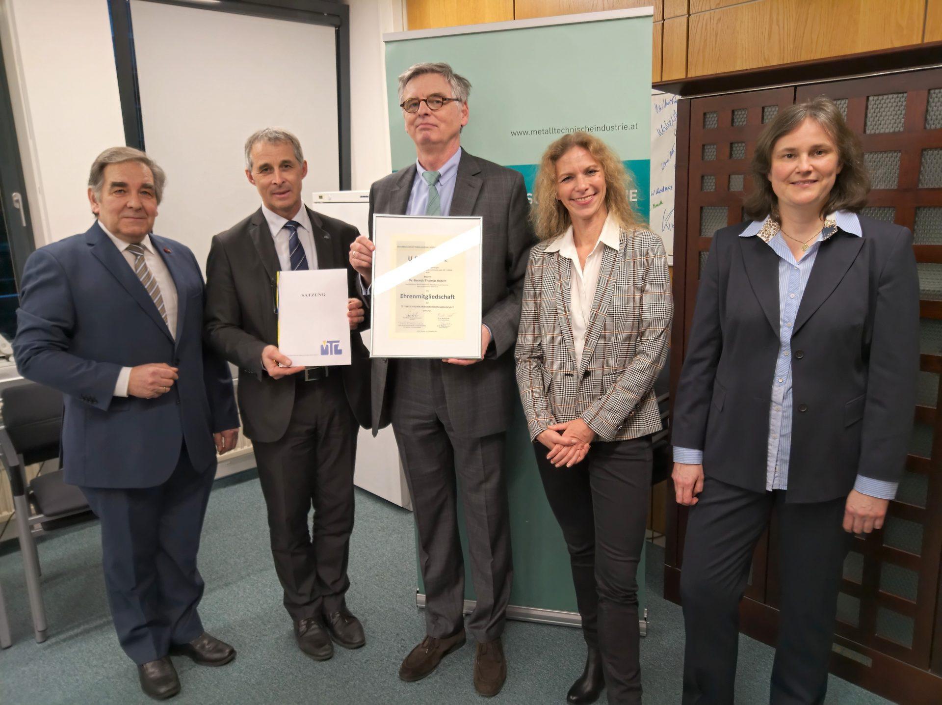 ÖTG-Ehrenmitgliedschaft für den FMTI-Geschäftsführer Dr. Berndt-Thomas Krafft