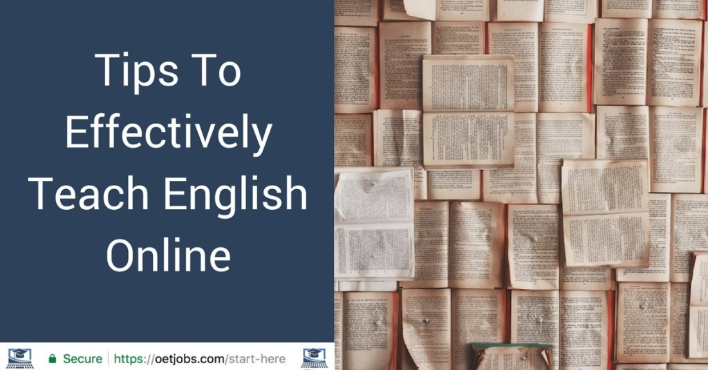 Tips To Effectively Teach English Online