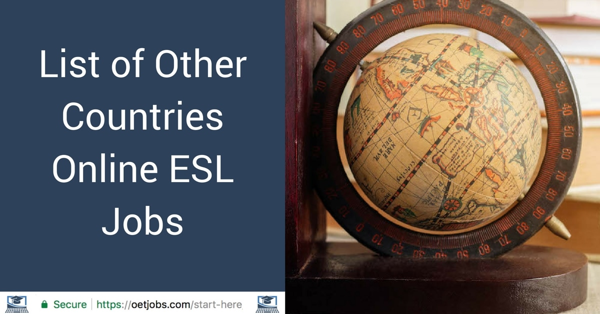 List of Other Countries Online ESL Jobs
