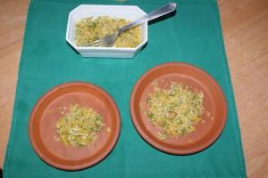 portions de pâtée pour poussin