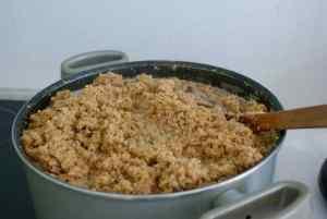 Tourteau de soja en fin de cuisson