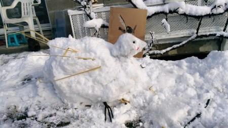 P'Ang la poule de neige Création de Nadège