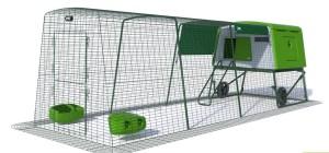 Grand enclos sécurisé pour poulailler eglu cube