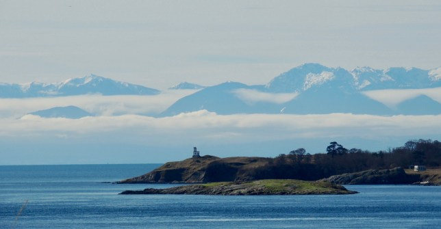 Amazing views of the snow-capped Olympics, Cattle Point light house right across the San Juan channel