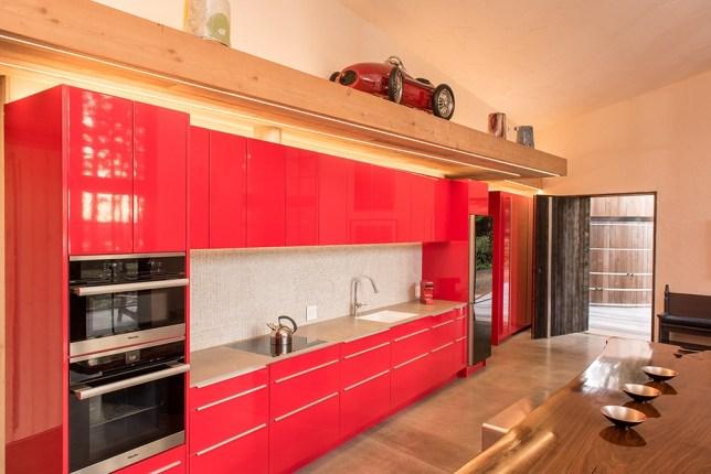 The Ferrari red kitchen