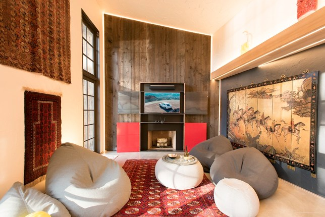 LG flat screen, Sonus sound, dramatic LED lighting and relaxed Lujo chairs from New Zealand...