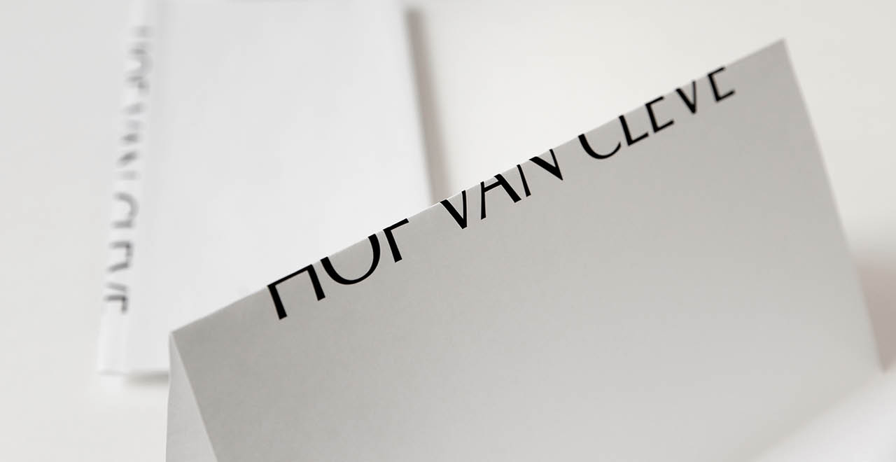 Brand identity for three star restaurant Hof Van Cleve