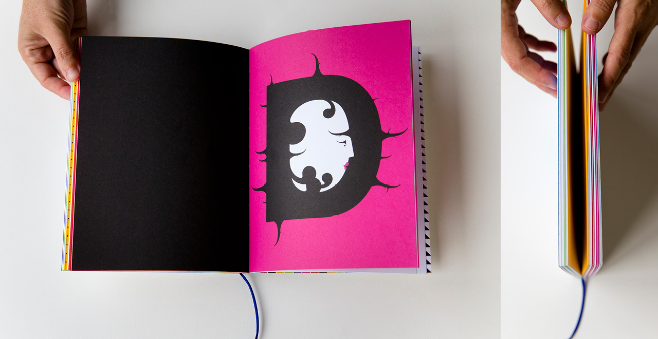 Design for a notebook promoting Igepa coloured papers using famous fairytales.