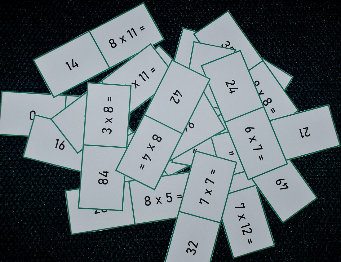 7 Times Table Dominoes