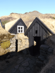 Outdoor houses at Skogar museum