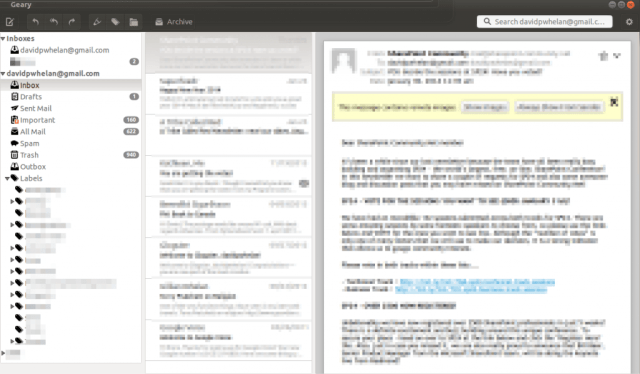 Geary E-mail is a clean, multiple account client for Ubuntu users and a good alternative to Thunderbird and Zimbra.