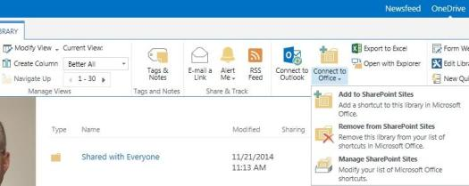 SharePoint Document Library as Local Favorite – David Whelan