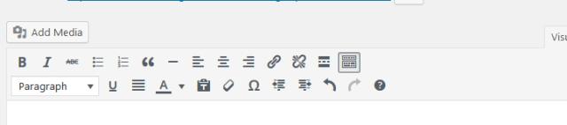 Default WordPress 4.6 editor