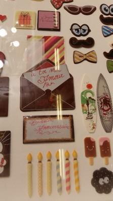 קישוטי שוקולד מוכנים מיניאטוריים