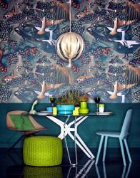 paper fantasy painted ofdesign illusions interior dining fresco room wallpapersafari