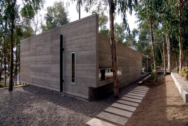 Modern Flat Roof House Blends In Harmoniously With The