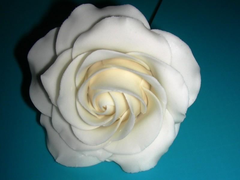 Anleitung fr eine Rose aus Bltenpaste