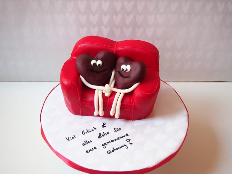 Sofa Torte fr Verliebte