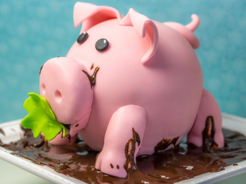 Schweinchen Torte oder viel Glck im neuen Jahr Video