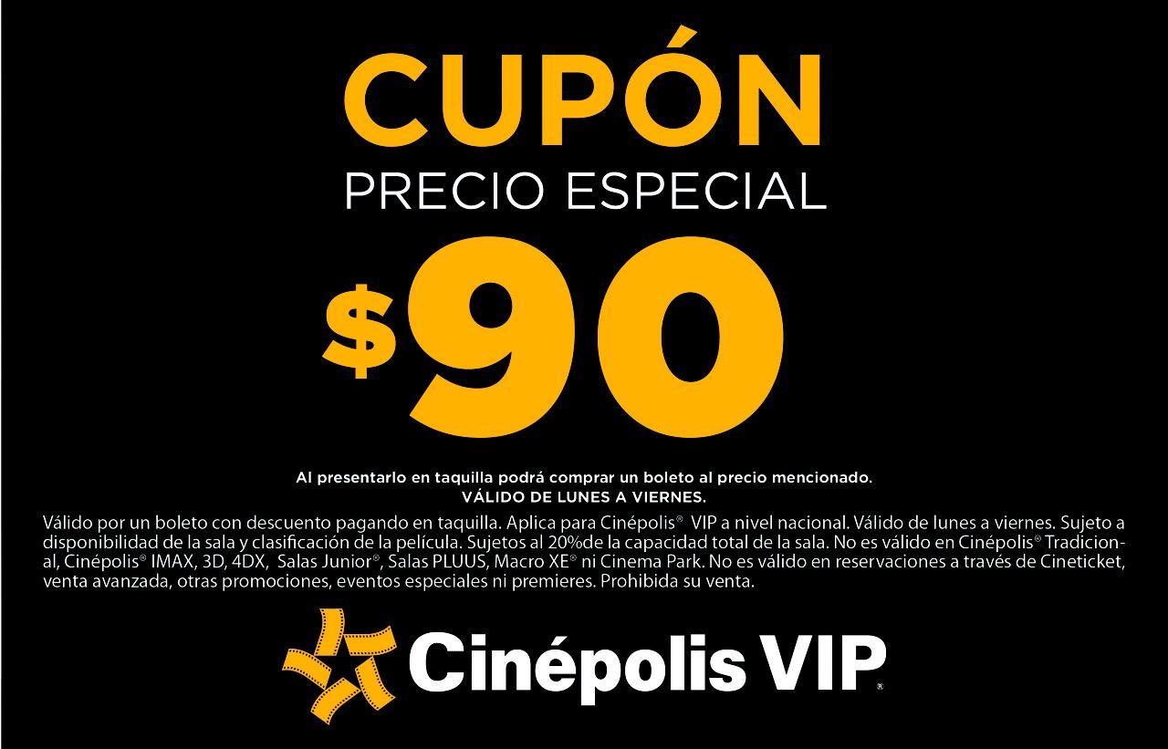 Cinpolis Cupn precio especial para entrada a salas VIP