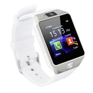 Ceas Smartwatch Sport Silver White cu Telefon - BSO09W 2016, Camera, Bluetooth, Notificari, Functii fitness, Touchscreen