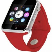 Smartwatch cu Telefon iUni A100i 1294-4, BT, LCD Capacitive touchscreen 1.54 Inch, Camera (Rosu) • iUni