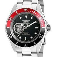 Invicta Pro Diver Automatic Black Dial Mens Stainless Steel Watch 20435 • Invicta