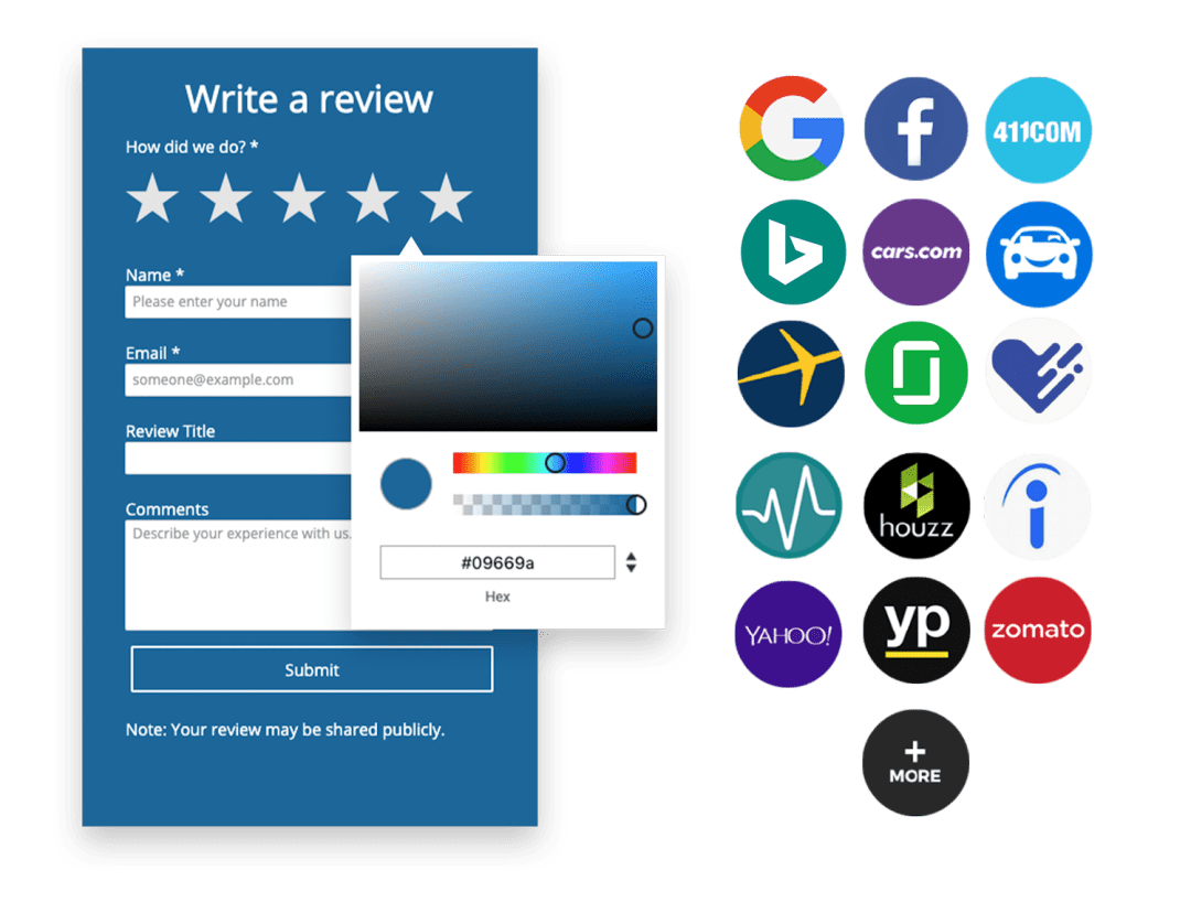 Collect Reviews on Sites that makes an Impact