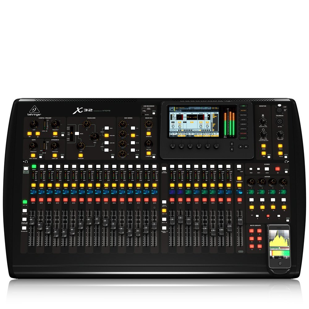 behringer x32 40 channel 25 bus digital mixing console pro audio mixer. Black Bedroom Furniture Sets. Home Design Ideas