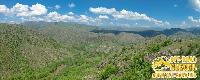 Chebren Monastery - Mariovo and Crna (Black) River - Panorama