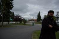 Man at Pioneer Park