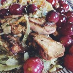 Chicken Livers with Grapes and Carmelized Onions